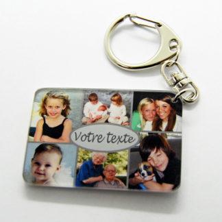 Porte-clés photos pèle mèle personnalisé