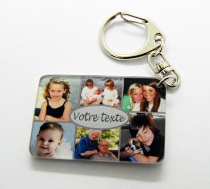Porte-clés pèle mêle photos à personnaliser agda photo