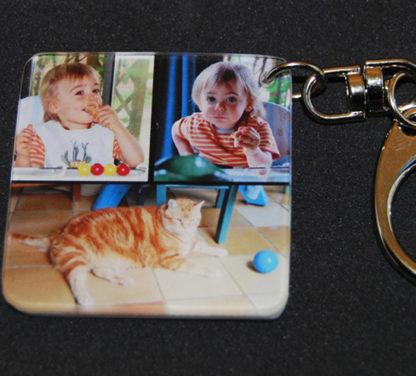 Porte-clés photos pele mele agda photo personnalisé