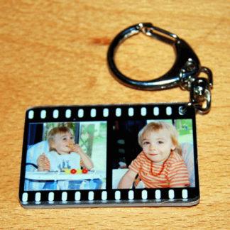 Porte-clés personnalisé photos pellicule