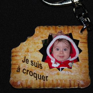 Porte-clés photo personnalisé agda photo forme petit beurre