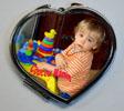 Miroir de poche forme coeur personnalisé avec votre photo