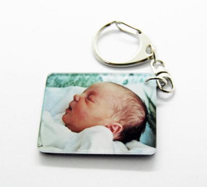 Porte-clés photo recto verso agda photo personnalisé avec 1 ou 2 photos