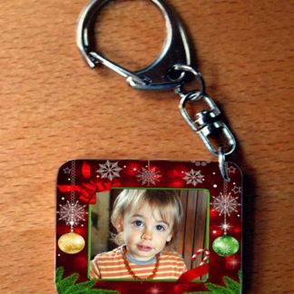 Porte-clés photo personnalisé spécial noël