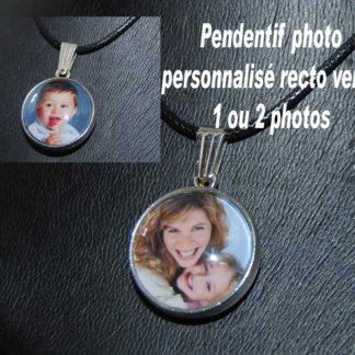Porte-clés personnalisé photo support verre