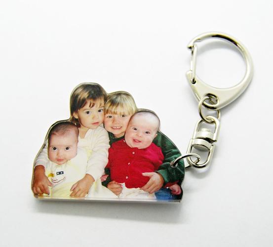Porte-cl/és Photo personnalis/é avec Photo de Votre Choix ou Cadeau de Texte.