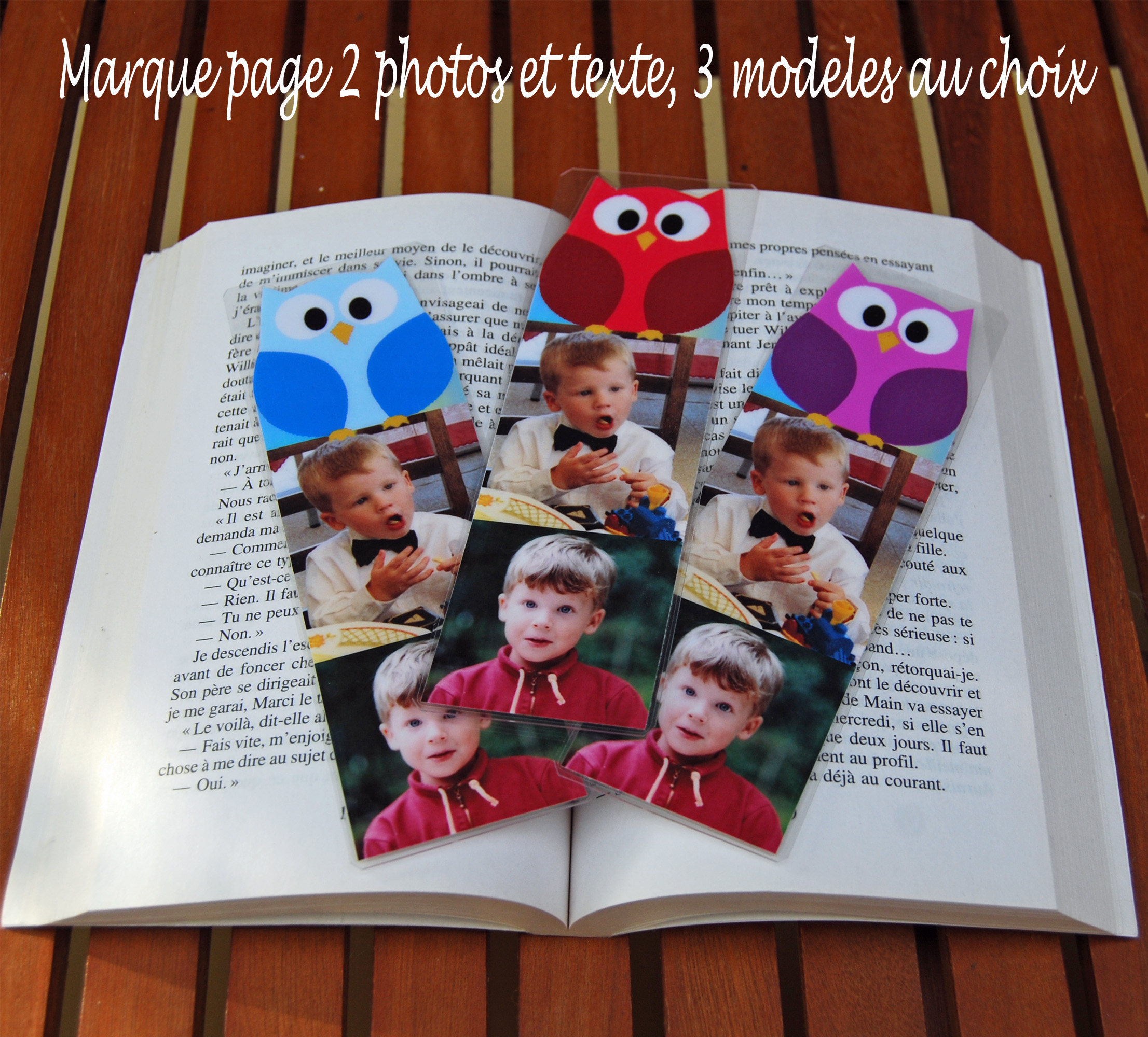 Marque Pages Personnalise Photo Modele Chouette