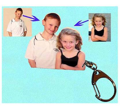 Porte-clés photo sculpture montage 2 photos agdaphoto