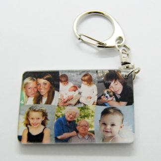 Porte-clés pele mele photos personnalisé agda photo