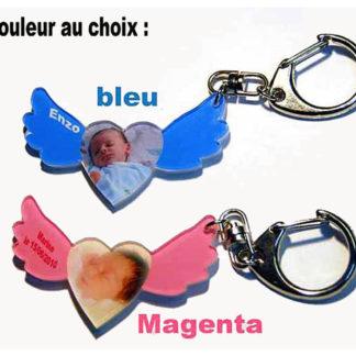 Porte-clés photo petit ange personnalisé agda photo