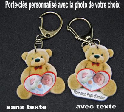Porte-clés personnalisé photo agda photo