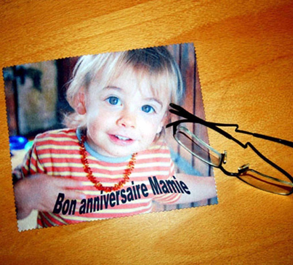 Essuie lunette chiffonnette photo personnalisée agda photo