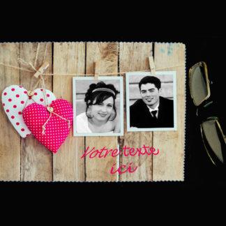 Lingette essuie lunette personnalisée photos agda photo st-valentin
