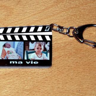 Port-cles photo perszonnalisé clap cinema avec agda photo