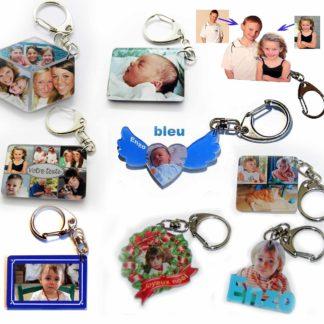 Porte-clés photos personnalisés