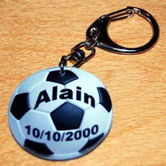 Porte-clés prenom personnalisé ballon de foot agda photo