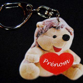 Porte-clés prénom personnalisé hérisson agda photo