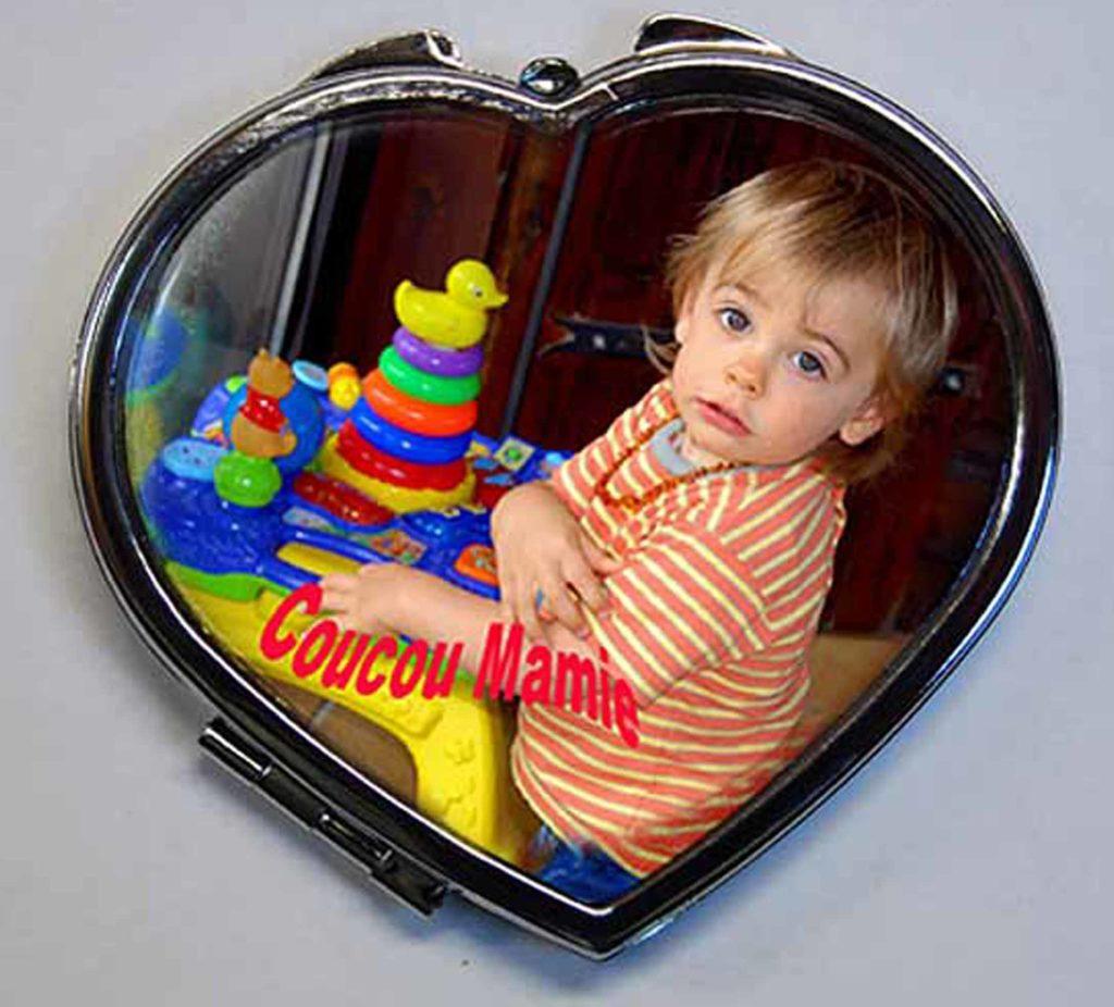 Miroir de poche agda photo personnalisé