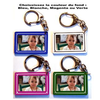 Porte-clés photo personnalisé Plaque de rue
