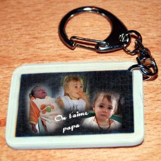 Porte-clés photo personnalisé divers insolites