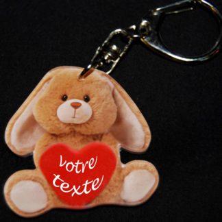 Porte-clés prénom personnalisé lapin