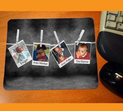 Tapis de souris personnalisé pele mele photos agda photo