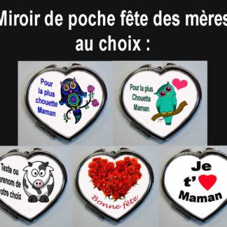 Miroir de poche pour maman agda photo fête des mères