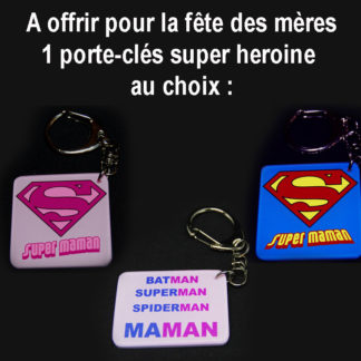 porte-cles super maman fete des meres agda photo