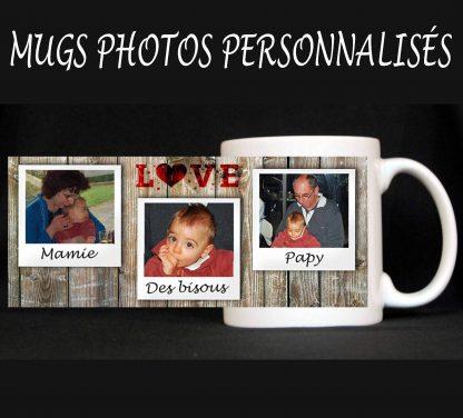 Mug 3 photos personnalisé agda photo