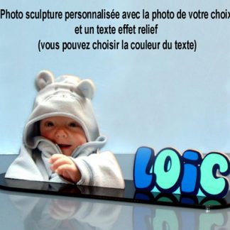 Photo sculpture personnalisée texte relief agda photo