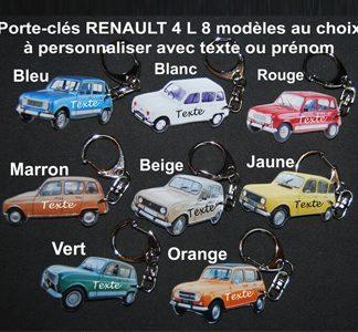 Porte-clés 4L Renault prénom personnalisé par agda photo