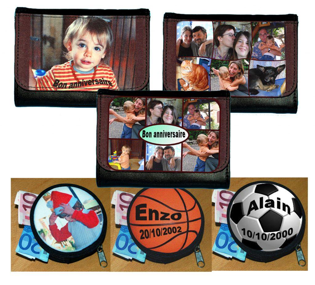 Portefeuille et porte-monnaie photo personnalisés agda photo
