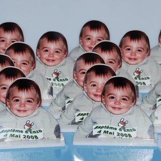 Mini statuette cadeaux invités personnalisée agda photo