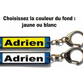 Porte-clés plaque immatriculation prenom personnalisé agda photo