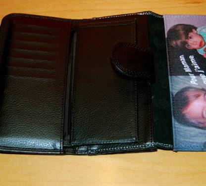 Intérieur grand portefeuille personnalisé photo agda photo