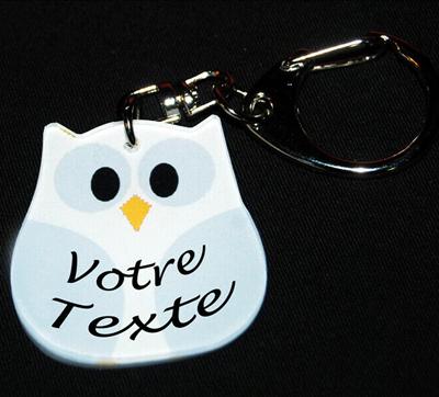 porte-clés chouette prenom agda photo