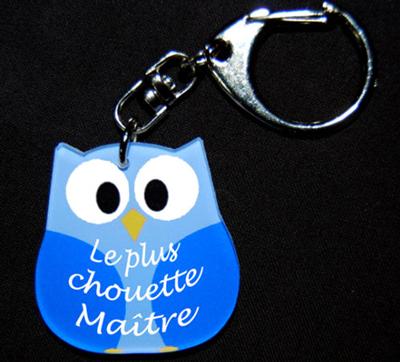 Porte-clés chouette personnalisé par agda photo