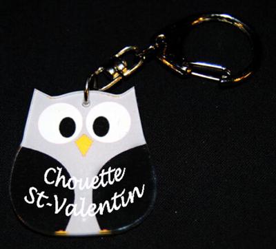 Porte-clés prénom chouette agda photo