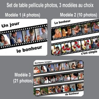 Set de table personnalisé pellicule photos agda photo