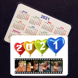 Calendrier de poche 2021 photo personnalisé