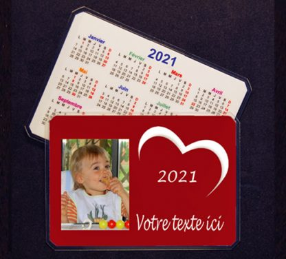 Calendrier photo personnalisé coeur 2021 agda photo