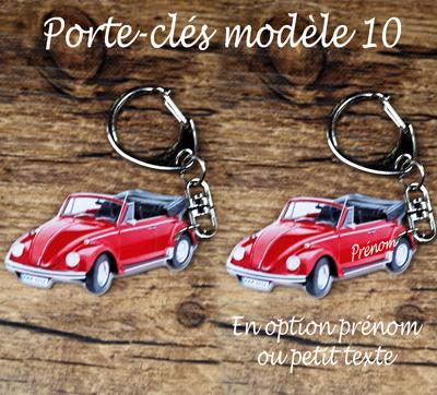 Porte-clés cabriolet coccinelle agda photo prenom