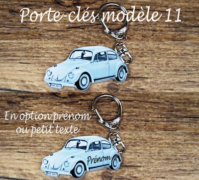 porte-clés Coccinelle VW Kafer 1500 prenom agda photo