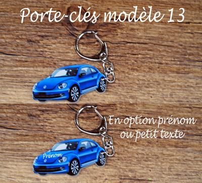 Porte-clés coccinelle modèle 13 agda photo