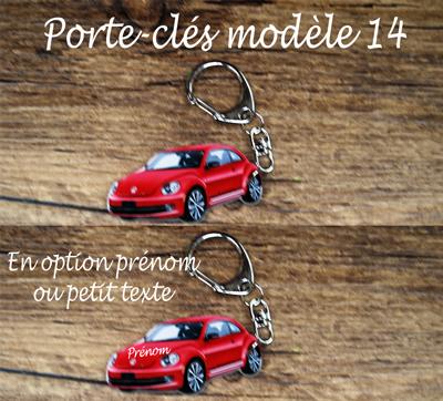 Porte-clés coccinelle rouge modèle 14 agda photo