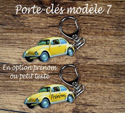 Porte-clés coccinelle jaune agda photo