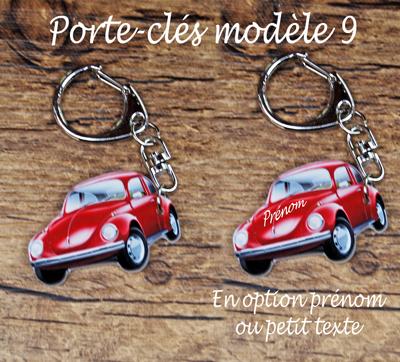 Porte-clés coccinelle rouge personnalisable agda photo