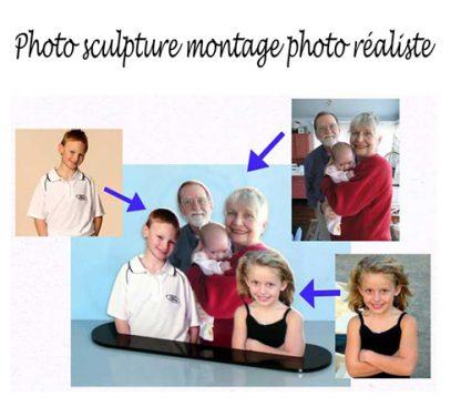 montage photo en sculpture avec adga photo