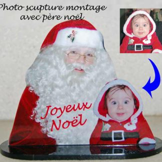 Photo sculpture enfant pere noel agda photo