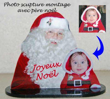 Photo sculpture enfant pere noel agda photo